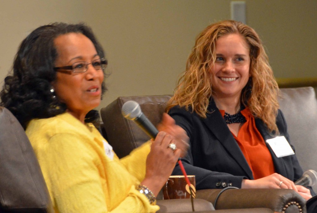 At Denver Seminary's wonderful Women Engage program with moderator and development officer Jessica Brown.